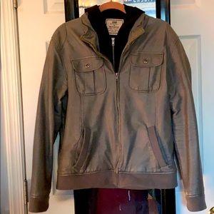 Men's Faux Leather Jacket/Hoodie